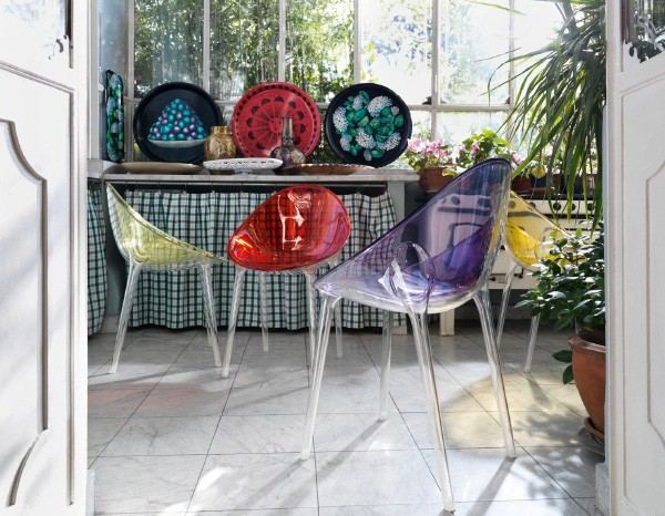 kartell interior inspiration 1 Modern Interior Inspirations from Kartell   a colorful transformation
