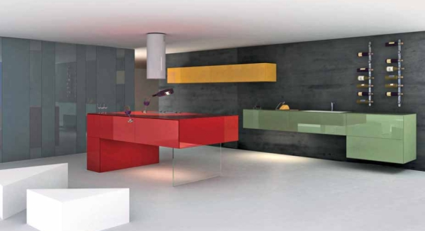 Innovative kitchen concept by lago the 36e8 kitchen suites - Foto ilot cuisine ...