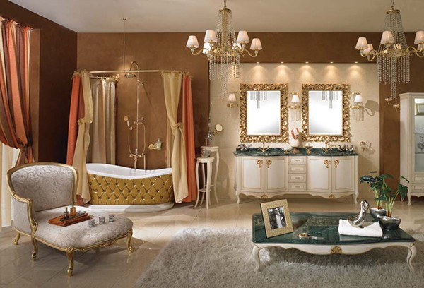 lineatre bathroom gold Classic Bathroom Furniture, Ideas, Designs, Pictures from Lineatre