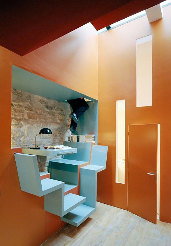 Living in small spaces ideas from paris house by for Great ideas for small apartments
