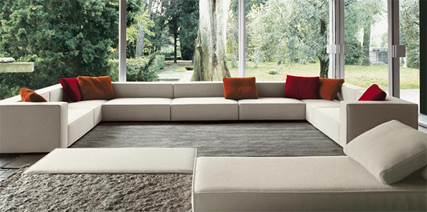 living room interior design inspiration paola lenti atollo sofa Interior Design Inspiration from Paola Lenti   transparent living room