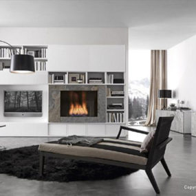 Living Room Storage Solutions, Ideas – 'Pari & Dispari' units by Presotto
