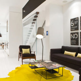 Luxurious Modern Apartment with Splashes of Yellow