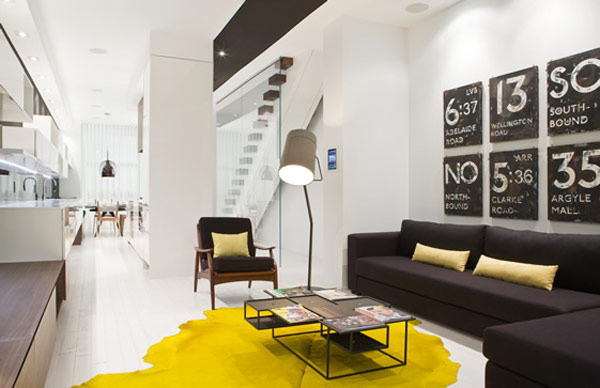 luxurious modern apartment splashes yellow 1 Luxurious Modern Apartment with Splashes of Yellow