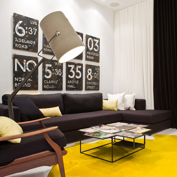 luxurious modern apartment splashes yellow 2 Luxurious Modern Apartment with Splashes of Yellow