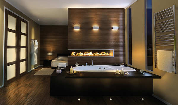 luxury master bathroom idea pearl 2 thumb Luxury Master Bathroom Idea by Pearl: drop in bathtub and built in fireplace