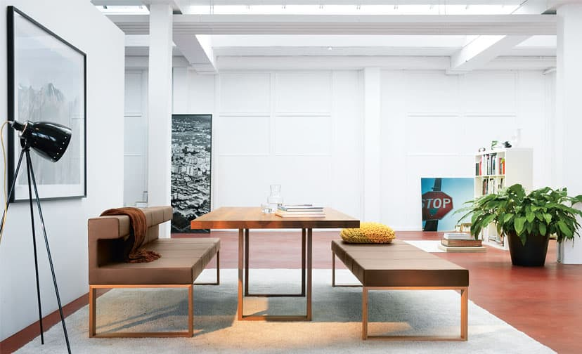 View In Gallery Max Table Adesso Bench From Girsberger