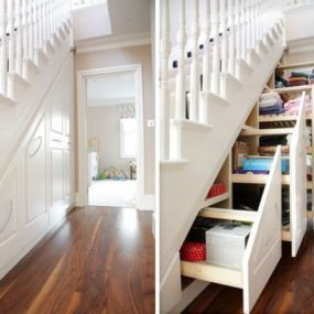 Maximize Space with Understairs Storage