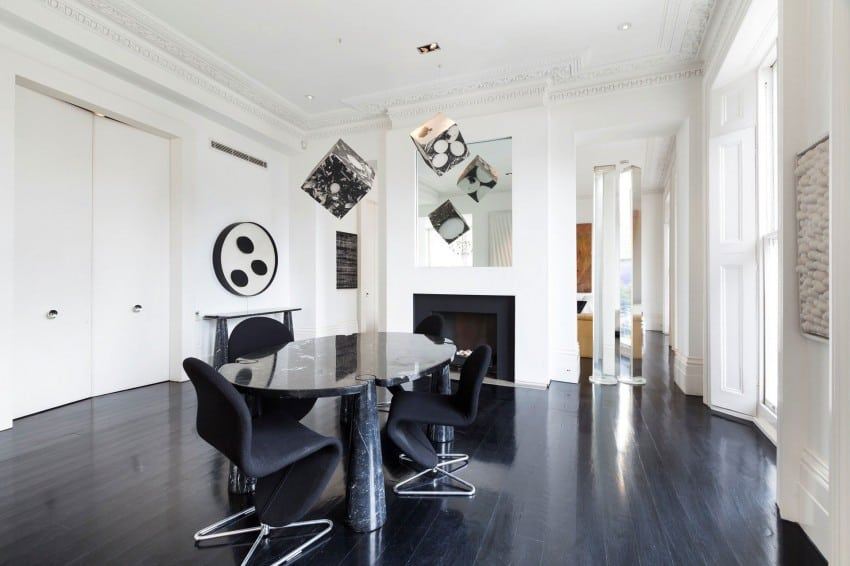 View In Gallery Minimalist Interior Designed As A Black And White