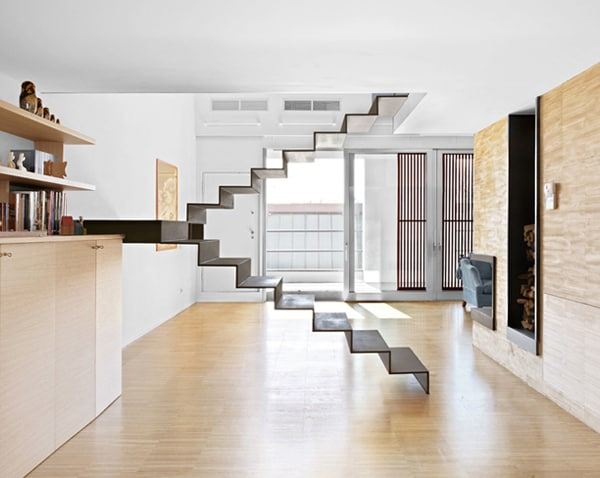 minimalist staircase roberto murgia 1 Minimalist Staircase: 3 Unique Stair Designs in One House