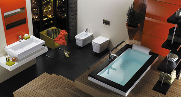 Modern bathroom idea from jacuzzi aura bath is your choice for