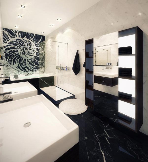 condo residence at sage building ubc modern-bathroom