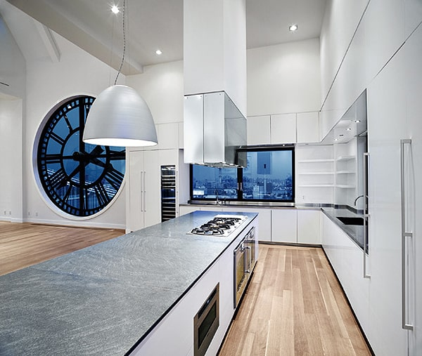 modern gaggenau kitchen high times penthouse 1 Modern Gaggenau Kitchen in the High Times Penthouse