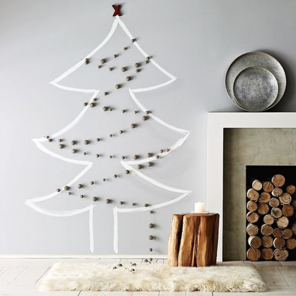 modern holiday interiors 10 christmas tree alternatives 1 Modern Holiday Interiors   10 Christmas Tree Alternatives