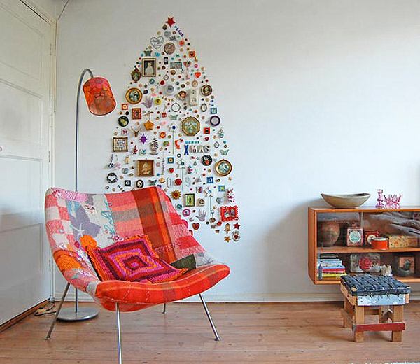 modern holiday interiors 10 christmas tree alternatives 6 Modern Holiday Interiors   10 Christmas Tree Alternatives