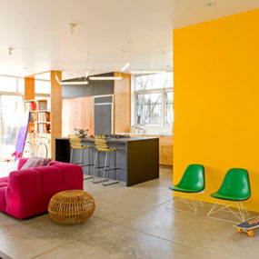 Home with Colorful Interior by Barbara Bestor