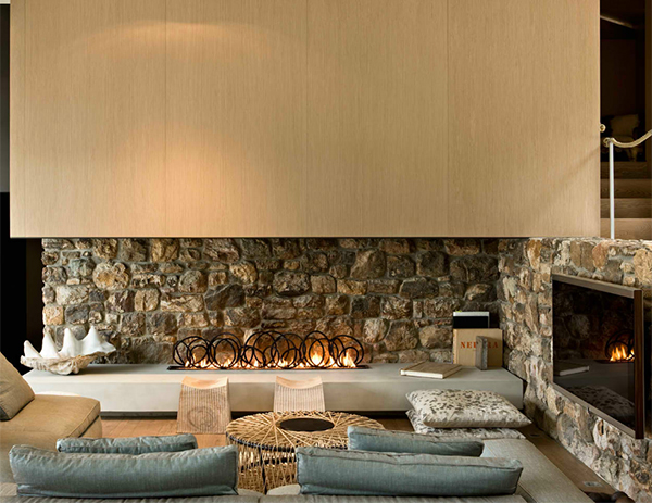 Modern Stone Fireplace Endearing Modern Stone Fireplace Designpattersons Architects Design Ideas