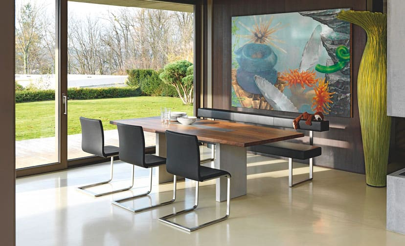 View In Gallery Nur Table Permesso Bench From Girsberger