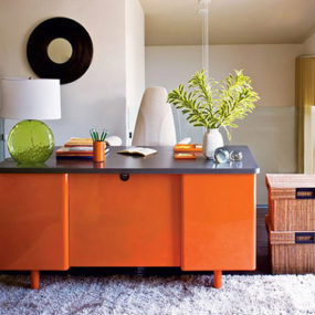 Orange Home Office Interiors