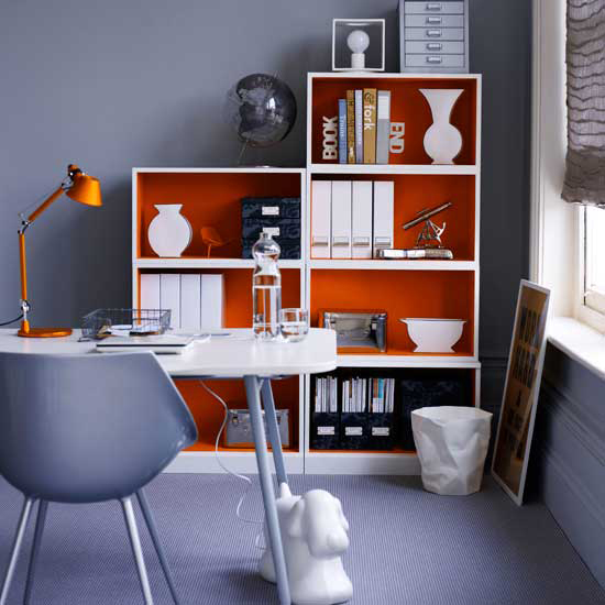 orange home office interiors 2 Orange Home Office Interiors