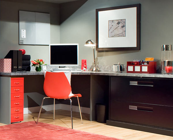orange home office interiors 6