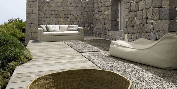 paola lenti patio design inspirations gray1 Patio Design Idea from Paola Lenti   The Dominance of the Gray