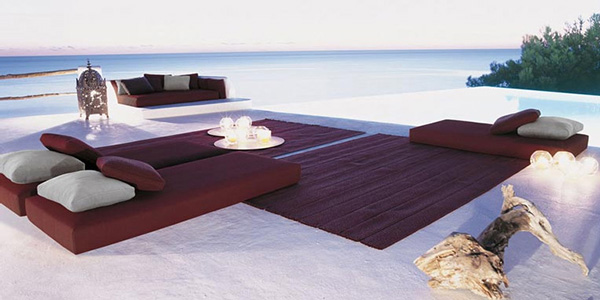 paolalenti tranquil outdoor setting beach Outdoor Living Idea   Eastern inspired beach setting from Paola Lenti