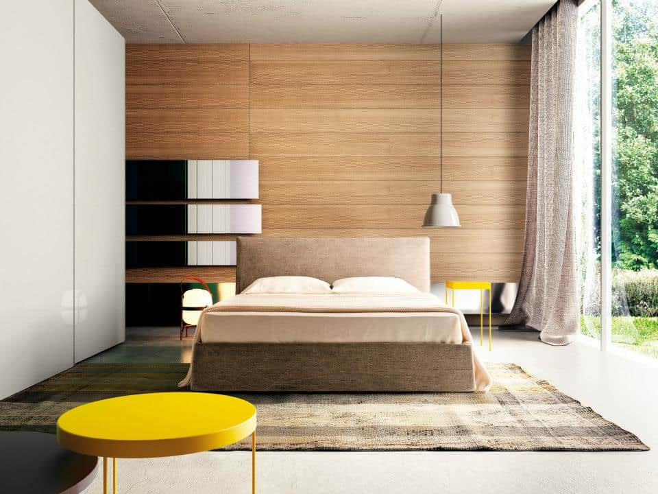 View In Gallery Perbelline Arredamenti Interior Design Asymmetrical Bedroom