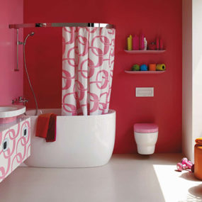 Pink Bathrooms & Pink Bathroom Ideas by Laufen