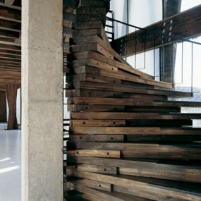 Reclaimed Wood Stairs
