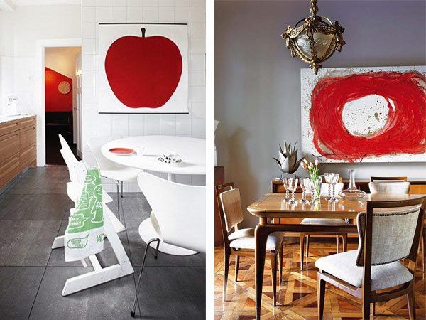 Interior design inspiration  Red Interior Design Inspiration