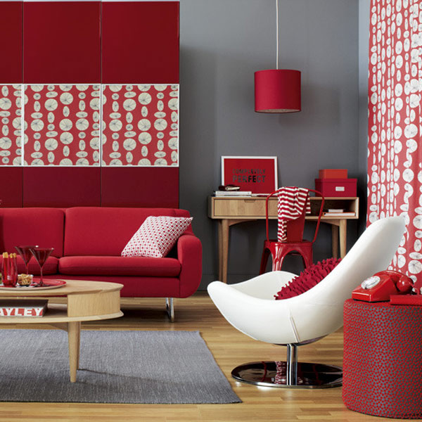 Red interior design inspiration for Interior inspiration