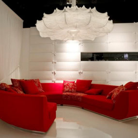 Red Sofa in Living Room Design – Interior Idea by Marcel Wanders