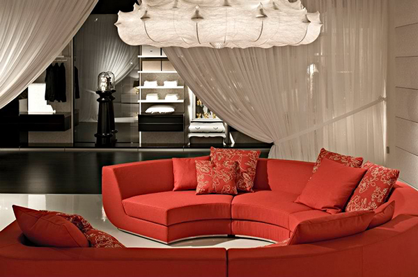 red sofa living room design interior idea marcel wanders 2 Red Sofa in Living  Room Design