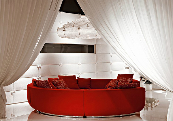 red sofa in living room design interior idea by marcel wanders