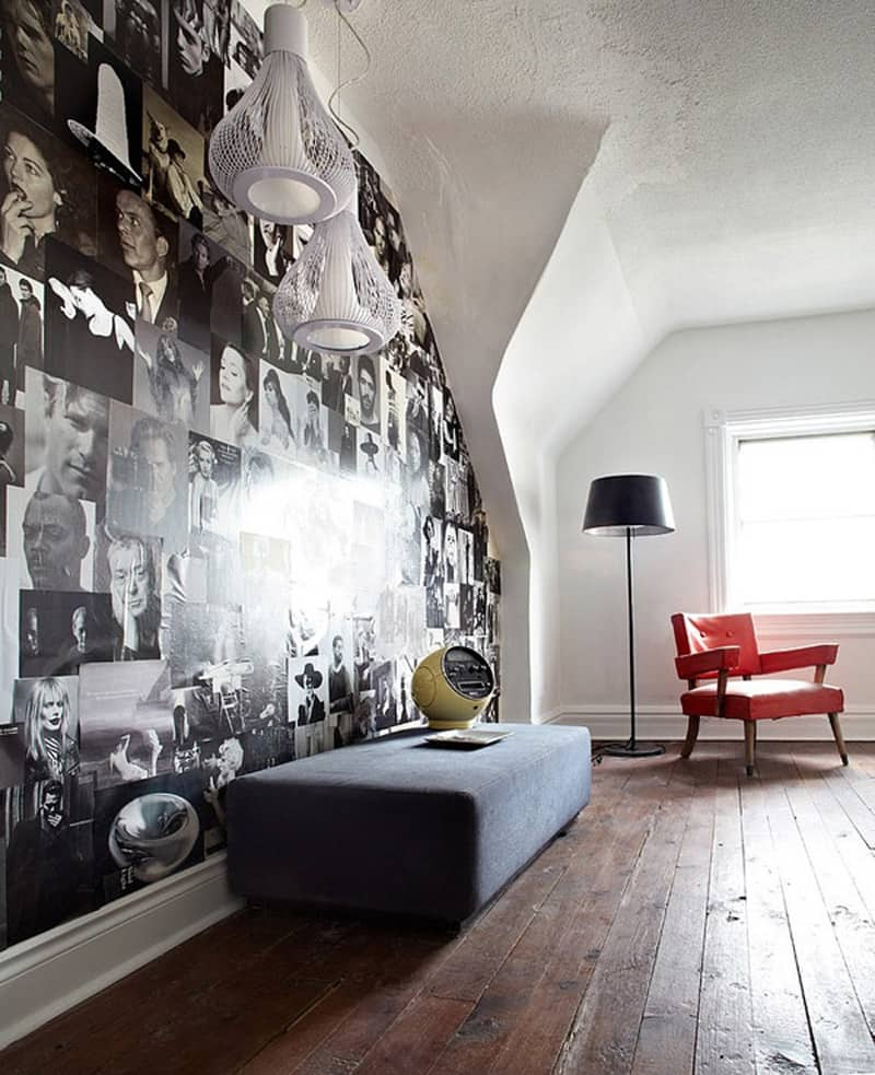 Retro Modern House With Black And White Interior Palette