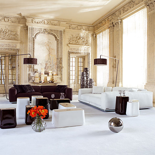 Contemporary Furniture By Roche Bobois Inside Traditional Walls