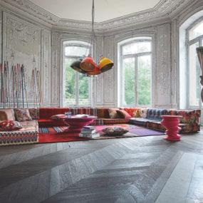 Bohemian Living Room: Roche Bobois Mah Jong Modular Sofa