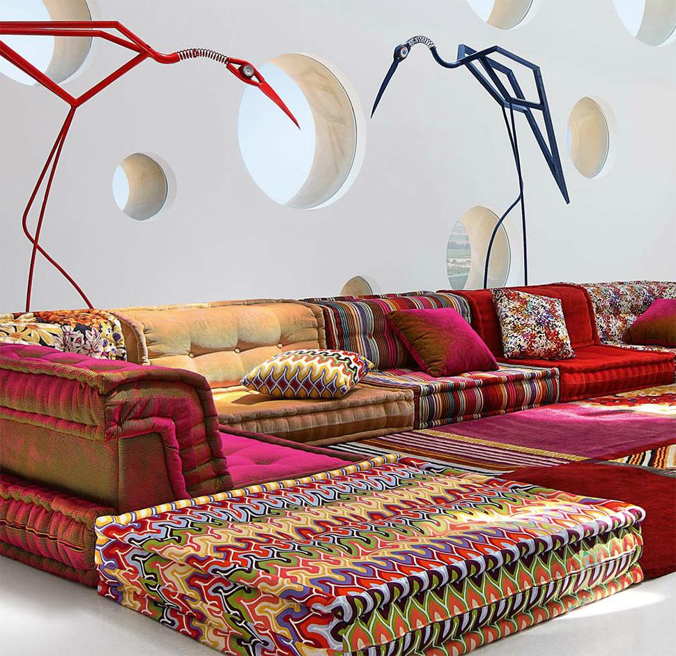 View In Gallery Roche Bobois Mah Jong Modular Sofa 2 Thumb 630x611 8964 Bohemian Living Room