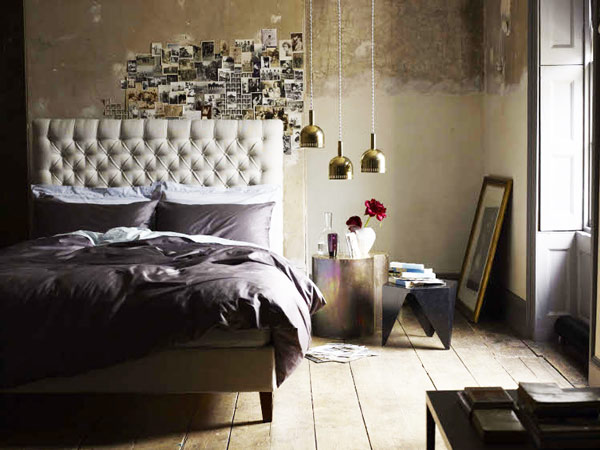 Romantic Bedroom with DIY Photo Idea