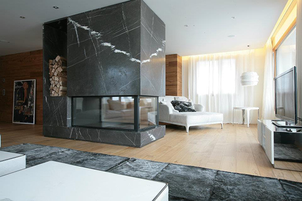 room divider fireplace marble design carlo colombo 1