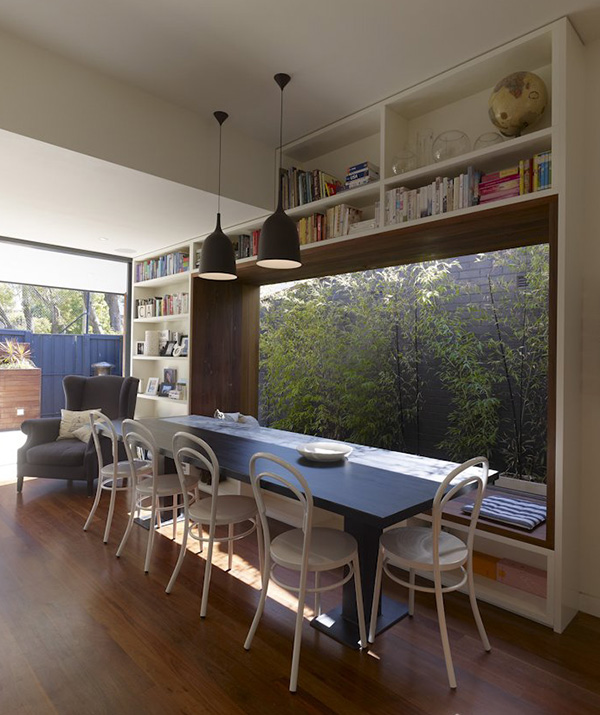 small modern home with outdoor appeal indoors 1 Small modern home outfitted with the coolest window seat