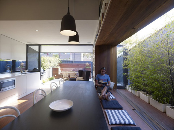small modern home with outdoor appeal indoors 2 Small modern home outfitted with the coolest window seat