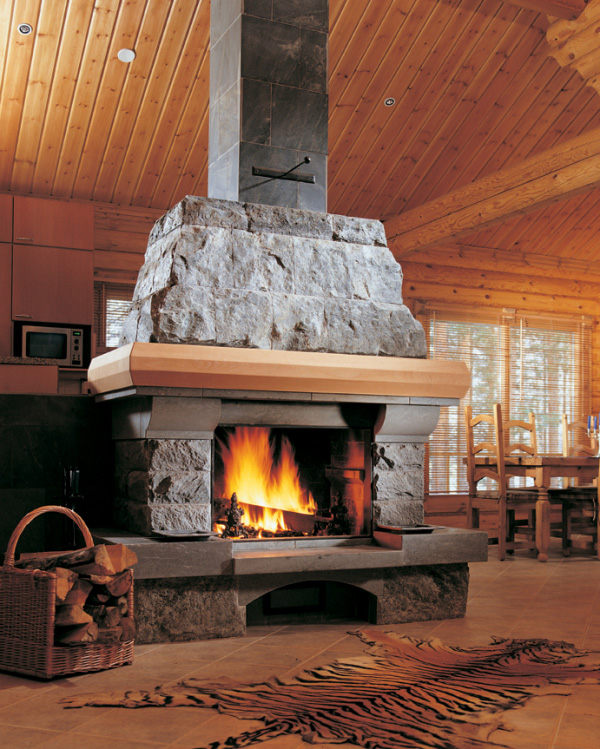 soapstone fireplace kitchen nunnauunu Finish custom made fireplace from NunnaUuni: kitchen   fireplace concept