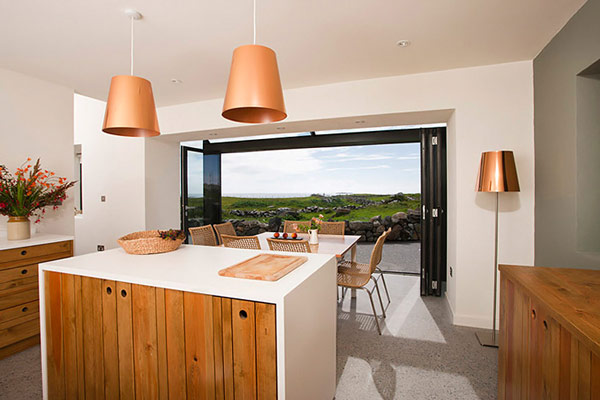 Kitchen Dining Area Design – modern with a view