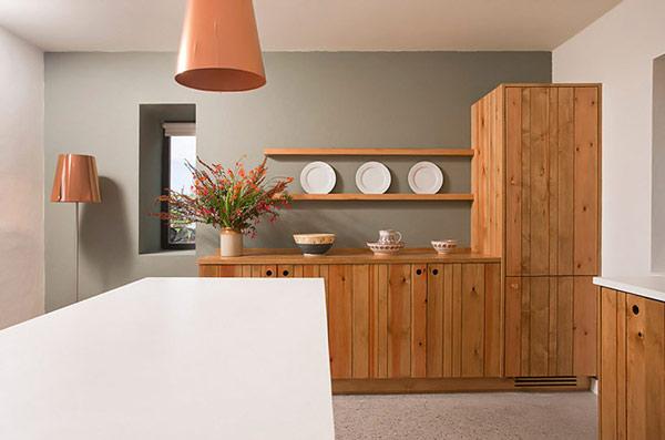 soft modern kitchen dining area view 2