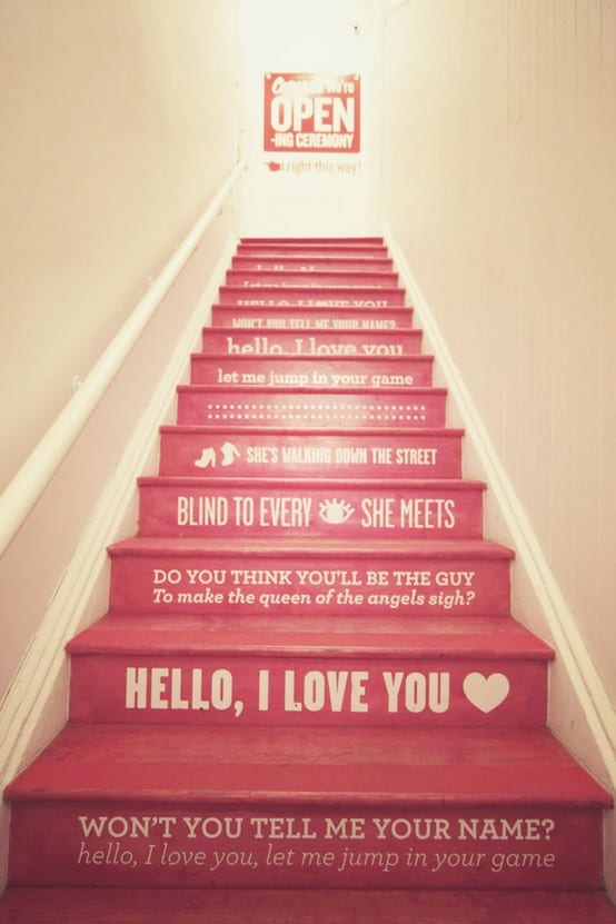 stair riser decor ideas 1 Stair Riser Decor Ideas