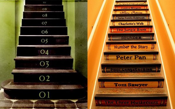 Stair Riser Decor Ideas 2