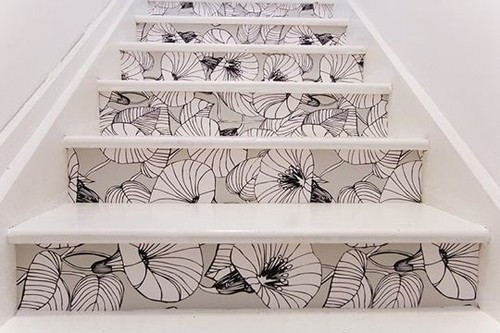 stair riser decor ideas 4 Stair Riser Decor Ideas