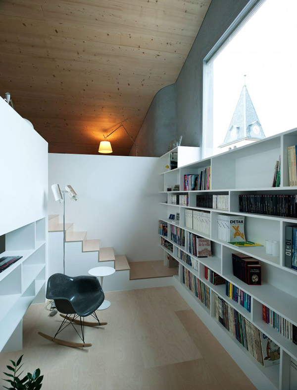 staircase library nook design combination 1